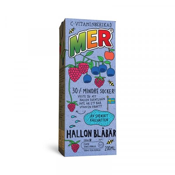 MER Hallon/Blåbär, Tetra 30x200ml MER #880