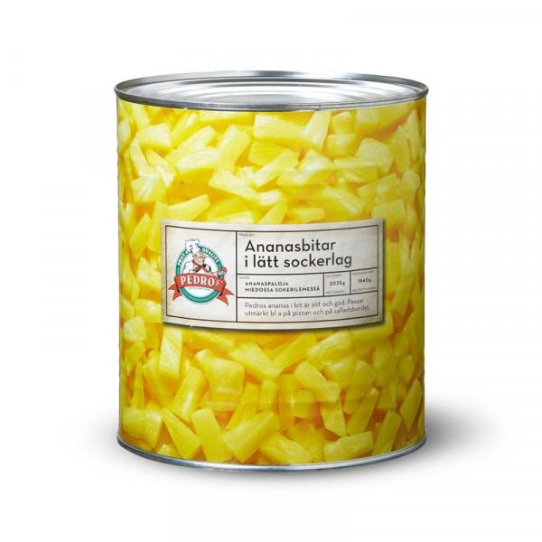 Ananas i bitar 1x3050g Pedros #10581