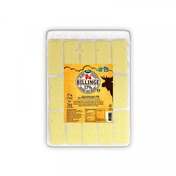 Billinge skivad ost 17% 2x3kg Arla #701559