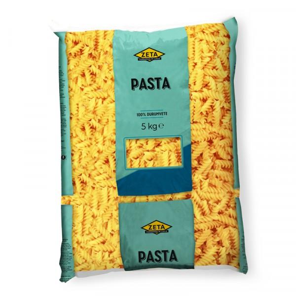 Fusilli Pasta, 100% durumvete 1x5kg Zeta #1364