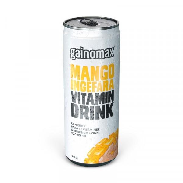 Gainomax Vitamin,  Mango-Ingefära  12x330ml Gainomax #1536