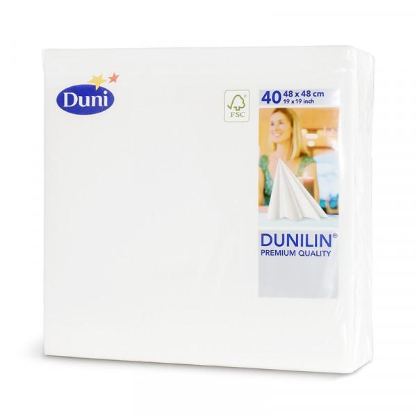 Servetter, Dunilin, 48cm, Vit 6x40st, Duni #163414