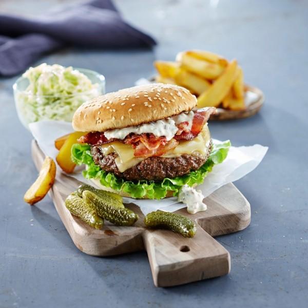 Hamburgerbröd Sesam, 90 g 30x90g, Korvbrödsbagarn #3585