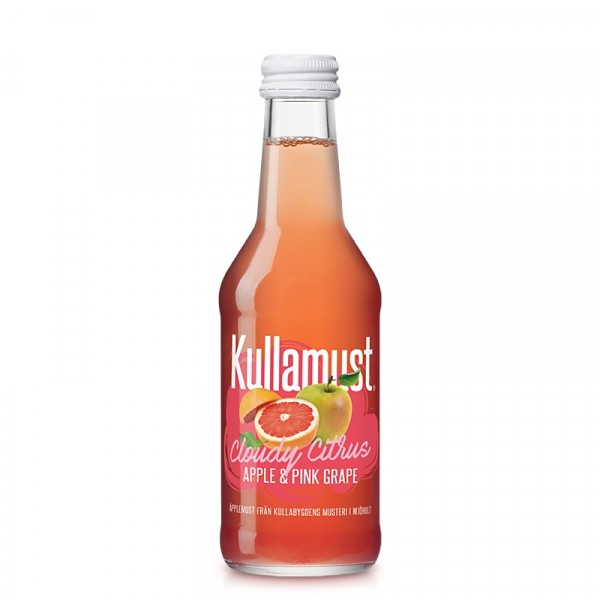 Cloudy Citrus, Äpple & Pink Grape 20x250ml Kullamust #2008030