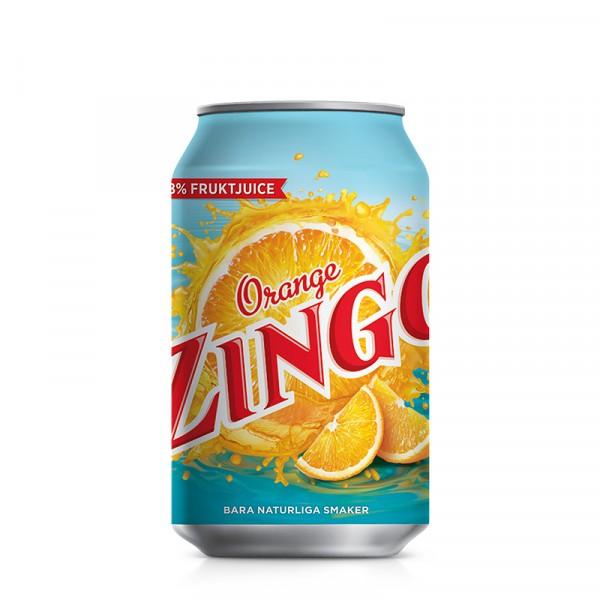 Zingo Apelsin 24x33cl, Carlsberg #22065