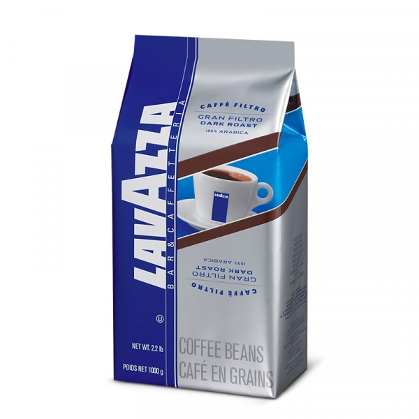 Gran Filtro Dark Roast, hela bönor 6x1kg, Lavazza #2440