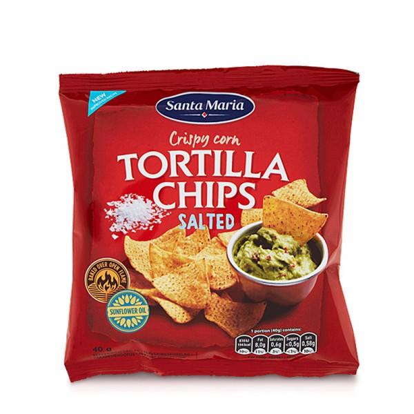 Tortilla Chips, Salted, 40g 30x40g, Santa Maria #3217
