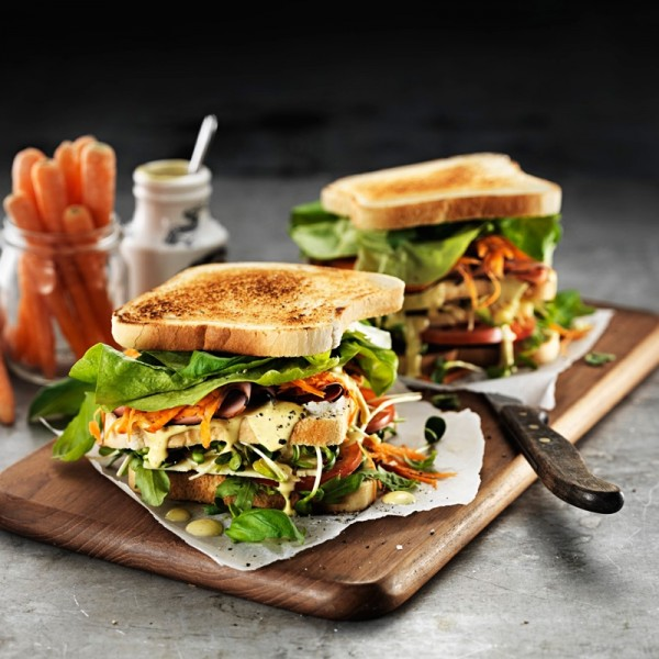 Ljust Sandwichbröd, skivad 5x1200g Schulstad Bakery #3395