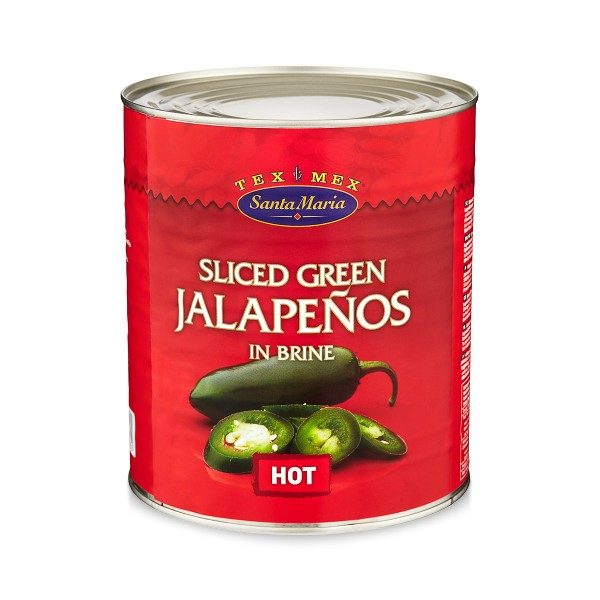 Green Sliced Jalapenos 1x3kg Santa Maria #4563