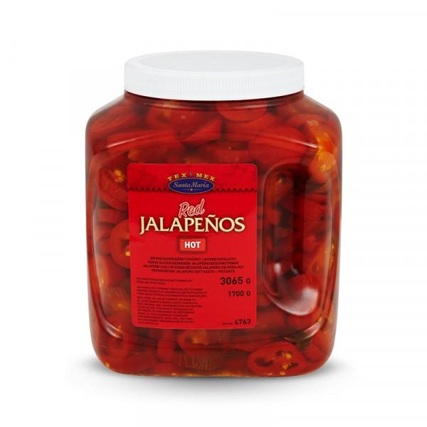 Röd Jalapeño, Hot 1x3065g Santa Maria #4763