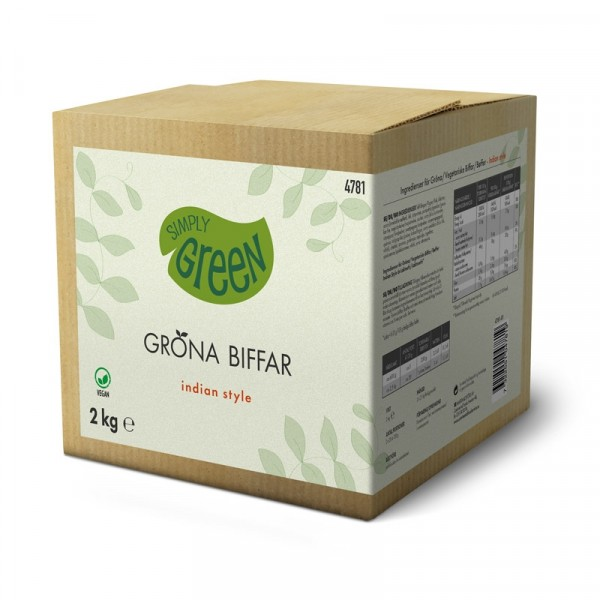 Gröna Biffar Indian Style 2x1kg Simply Green #4781