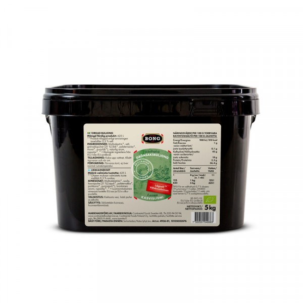 Grönsaksbuljong, EKO, lågsalt 0,3% 1x5kg Bong #4936