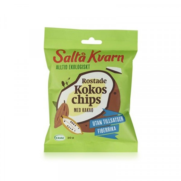 Snacks Kokoschips kakao KRAV 10x30g Saltå Kvarn #5071