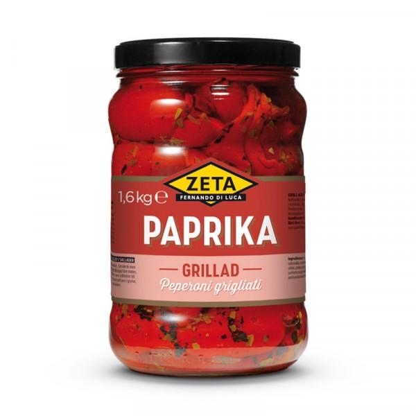 Paprika, grillad röd 2x1.6kg, Zeta #5202