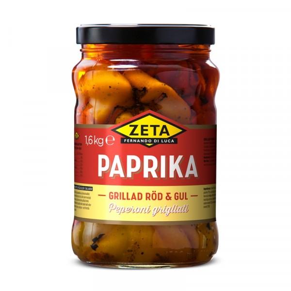 Paprika, grillad röd & gul 2x1.6kg, Zeta #5295