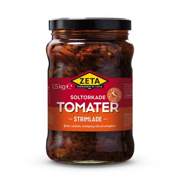 Tomater, soltorkade strimlade 2x1.5kg, Zeta #5298