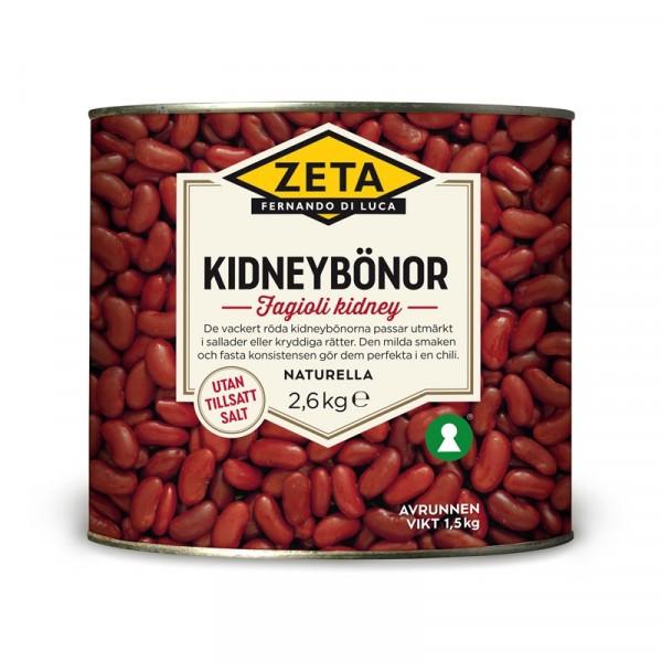 Kidneybönor 1x2.6kg Zeta #5312