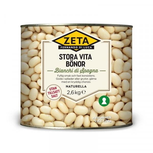 Stora vita bönor 1x2.6kg Zeta #5314