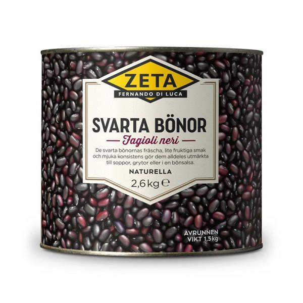 Svarta bönor 1x2.6kg, Zeta #5316