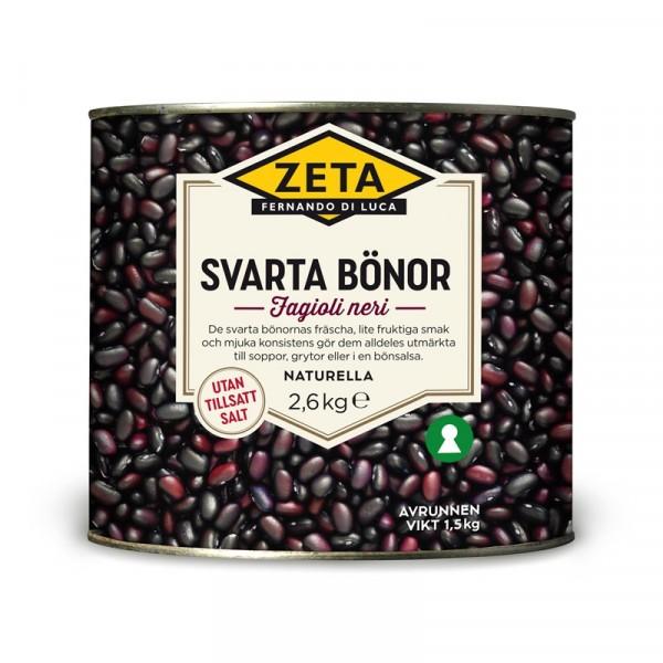Svarta bönor 1x2.6kg Zeta #5316