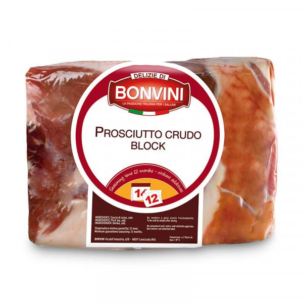 ProsciuttoCrudo1/2block 1x2kg Bonvini #8057