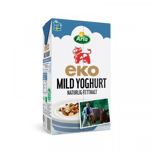 Mild Yoghurt Naturell 4%, 1 L, EKO 6x1l, Arla #8385