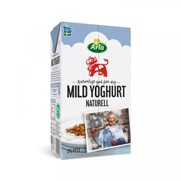 Mild Yoghurt Naturell 3%, 1 L  12x1l, Arla #8386