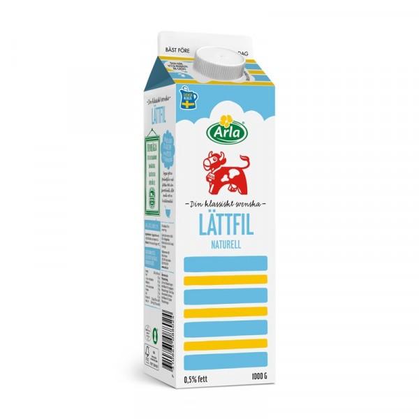 Lättfil 0,5%, 1 L 6x1l, Arla #8802
