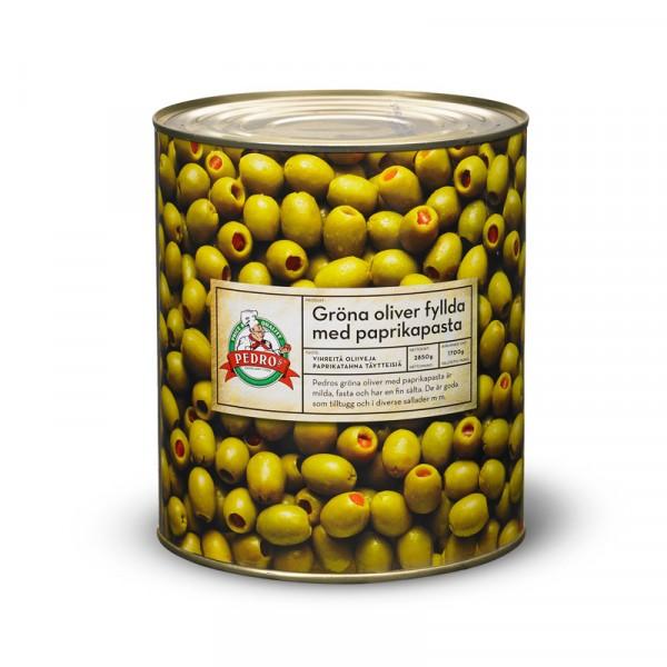 Oliver, gröna med paprika 1x2850g Pedros #90080