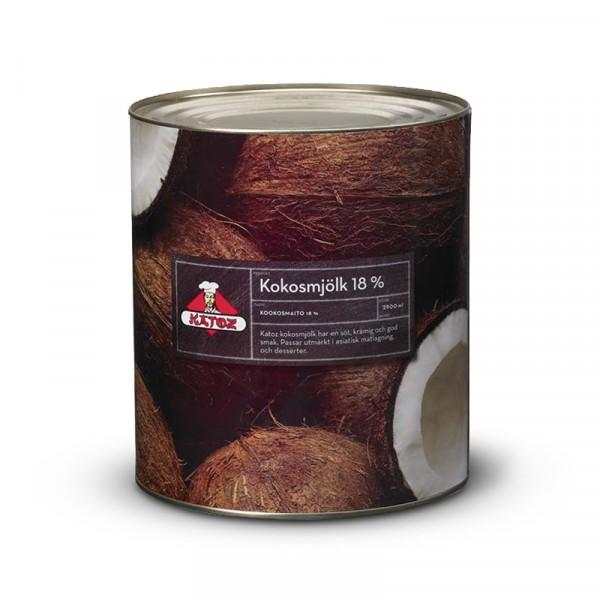 Kokosmjölk 18% 1x2900ml Katoz #90701