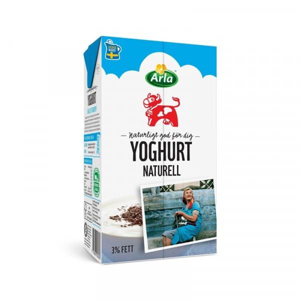 Yoghurt Naturell 3%, 1 L 12x1l, Arla #9626