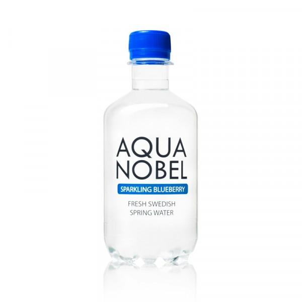 Kolsyrat Källvatten Blåbär, EKO 12x33cl, Aqua Nobel #71002
