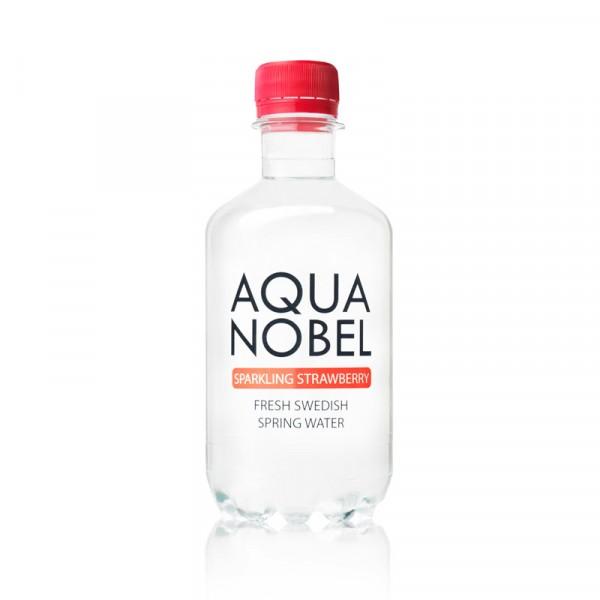 Kolsyrat Källvatten Jordgubbe, EKO 12x33cl, Aqua Nobel #71004