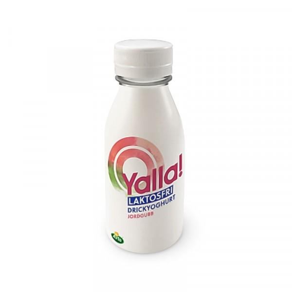 Drickyoghurt Laktosfri Jordgubb 0,5% 6x350ml Yalla #54696