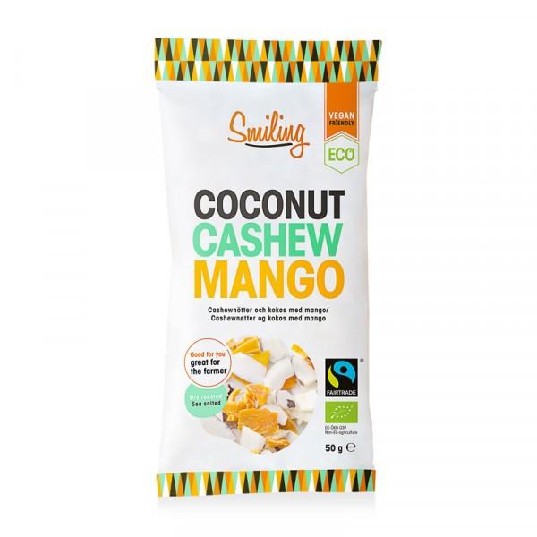 Mixpåse, Mango, Kokos & Cashew 20x50g, Smiling #1102