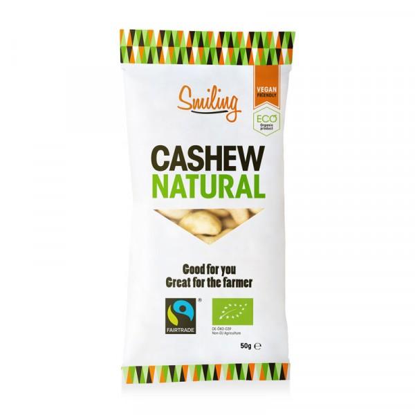 Cashewnötter, Naturell 20x50g, Smiling #1012