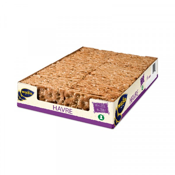 Knäckebröd, Havre S 3x1280g Wasa #008584