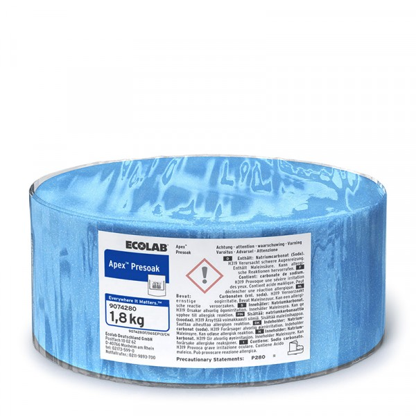 Blötläggningsmedel, Apex Presoak 3x1.8kg, ECOLAB #9074280