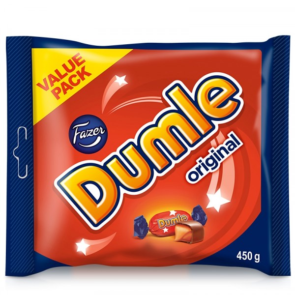 Dumle Original, 450 g 10x450g Fazer Konfektyr #403799