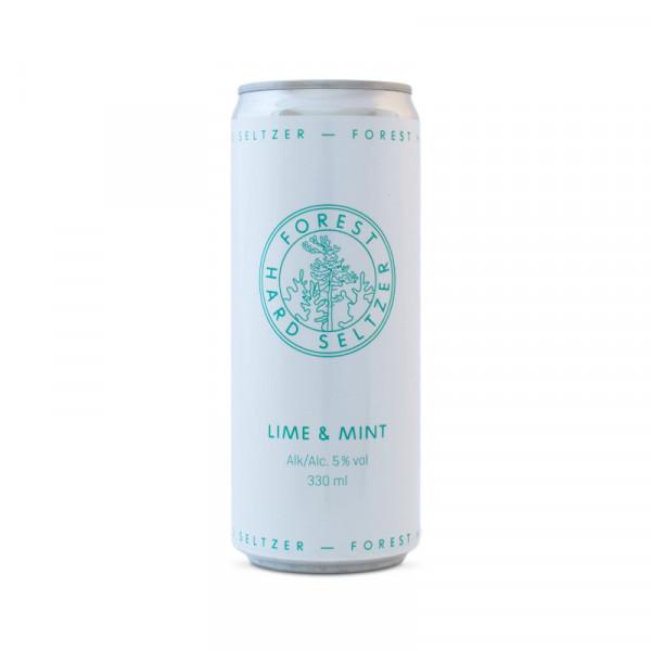 Forest Seltzer, Lime & Mint 5% 24x33cl Forest Seltzer #99002