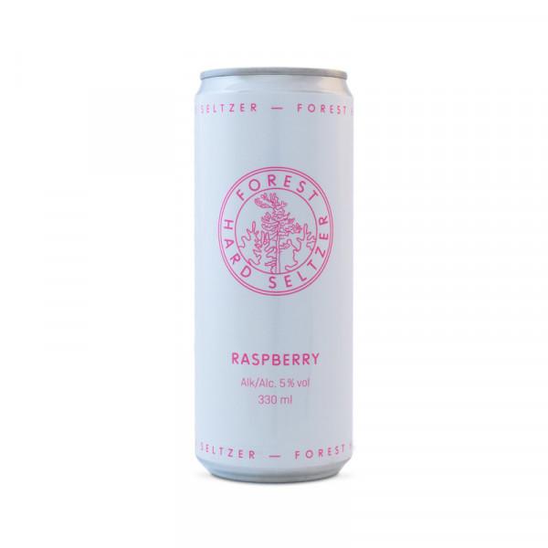 Forest Seltzer, Raspberry 5% 24x33cl Forest Seltzer #99003