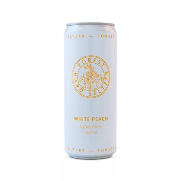 Forest Seltzer, White Peach 5% 24x33cl Forest Seltzer #99004