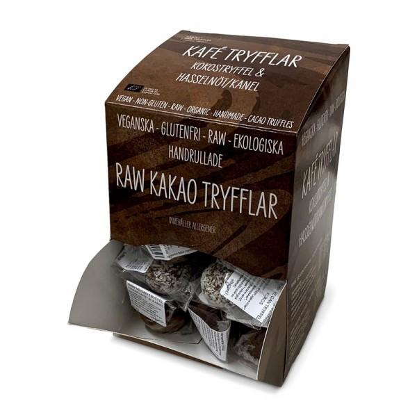 Vegan-tryffel, Kakao och Hasselnöt 40x15g Råboll Raw Truffles #1273