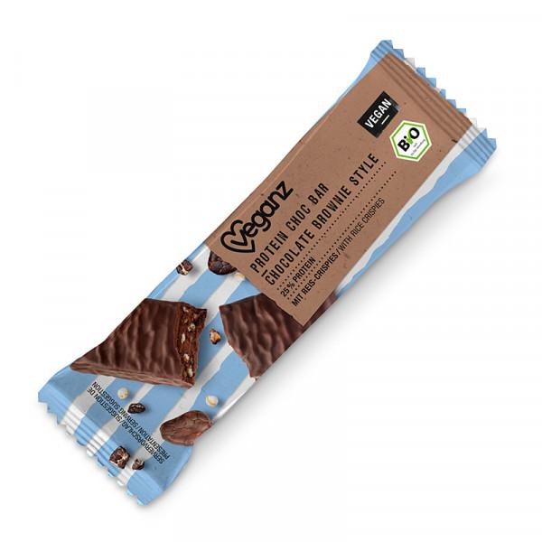 Vegan Protein Choc Bar: Brownie 18x50g Veganz #KALE055