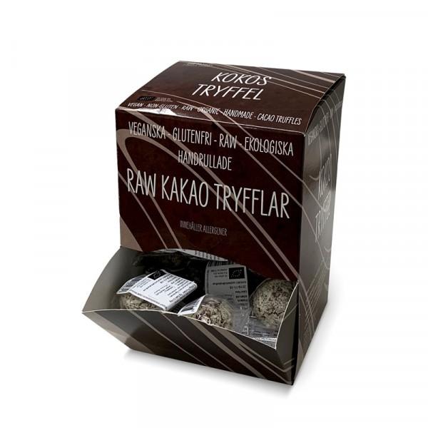 Vegan-tryffel, Kokos 40x15g Råboll Raw Truffles #0986