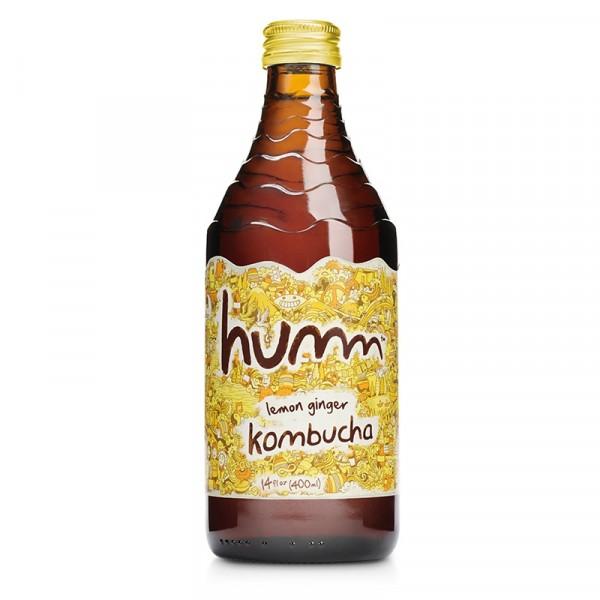Kombucha Ginger Lemon 12x414ml Humm #1004