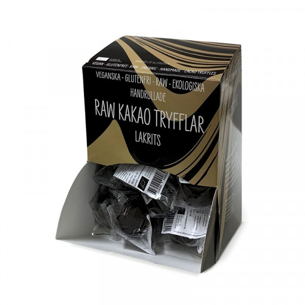 Vegan-tryffel, Lakrits 40x15g Råboll Raw Truffles #0900