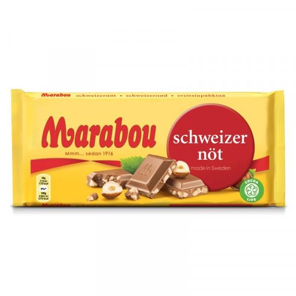 Marabou Schweizernöt 200g 16x200g, Marabou #28243