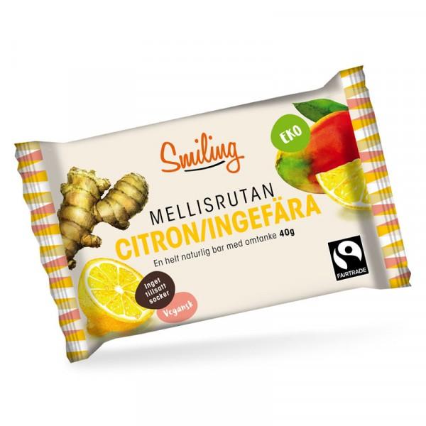 Citron&Ingefära Bars, Mellisrutan 12x40g, Smiling #1602