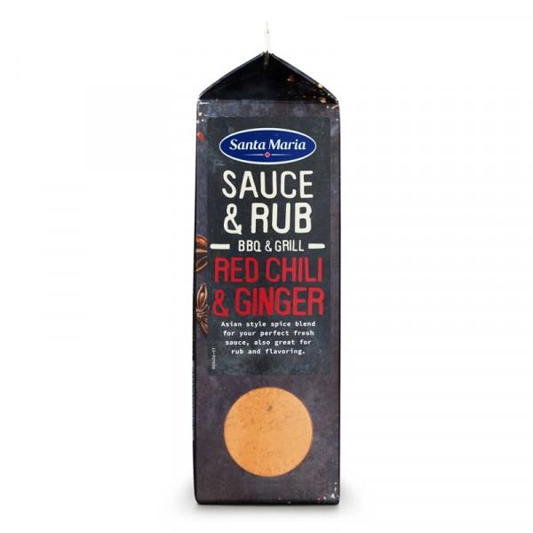 BBQ Sauce & Rub Mix Red Chili & Ginger 1x490g Santa Maria #101999